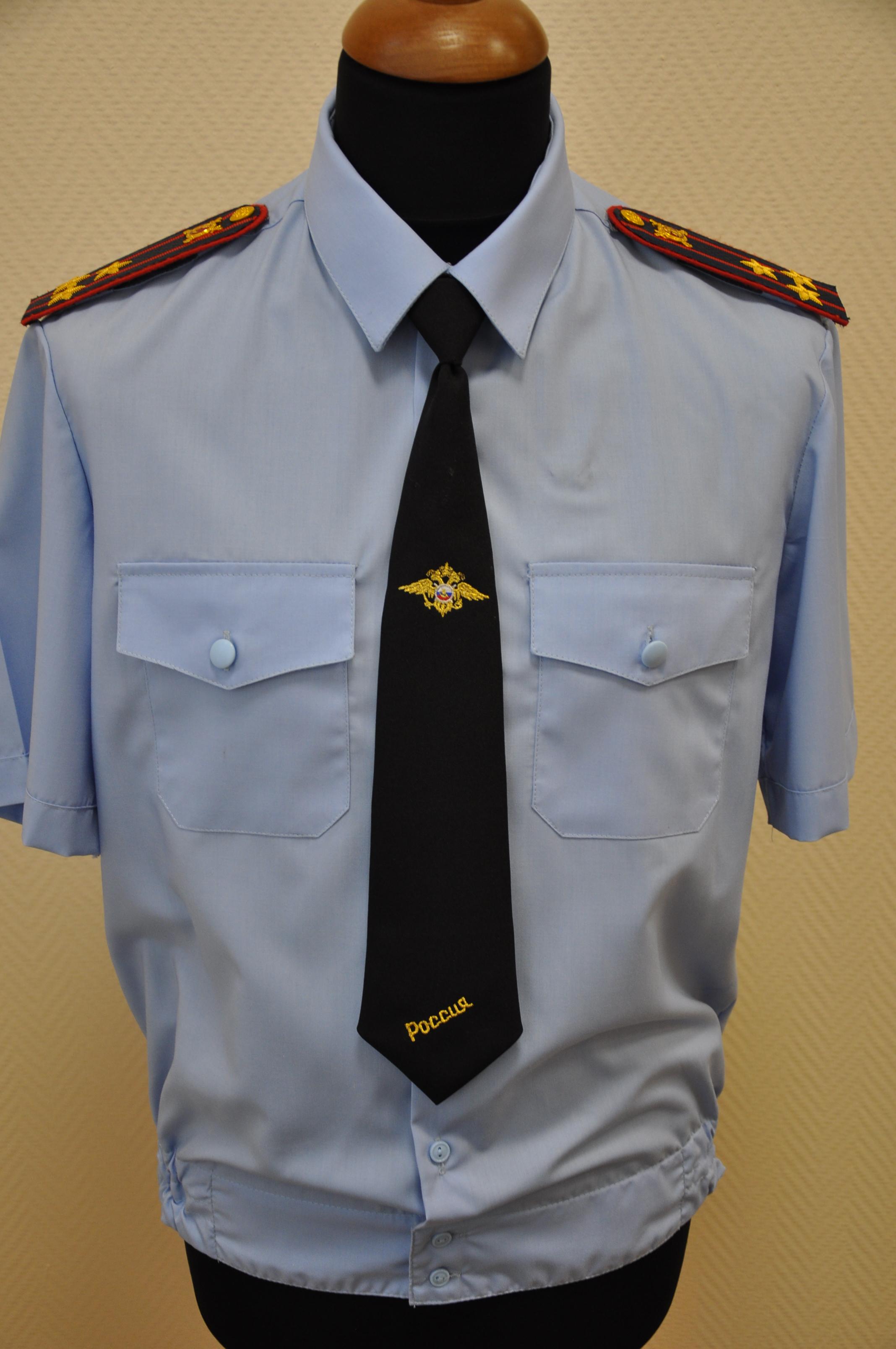 Фото форменной рубашки, пошитой на заказ в компании Узловая