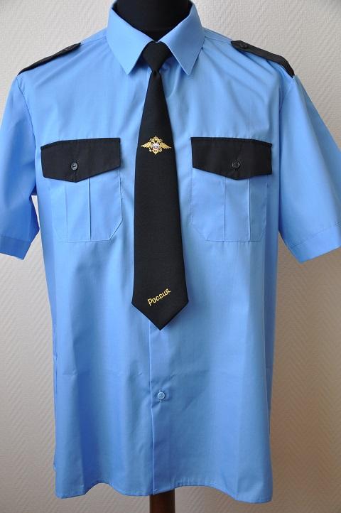 Изображение форменной рубашки, пошитой по всем стандартам в компании Узловая
